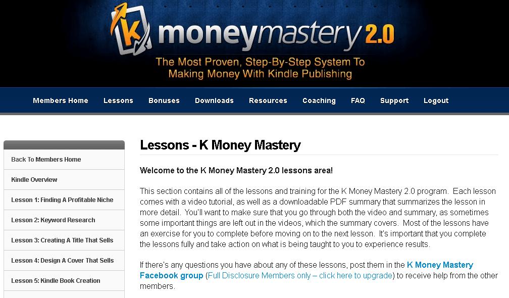 K Money Mastery dashboard