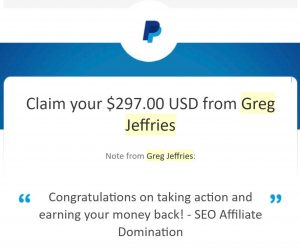 SEO Affiliate Domination - Money Back Guarantee