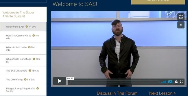 SAS dashboard