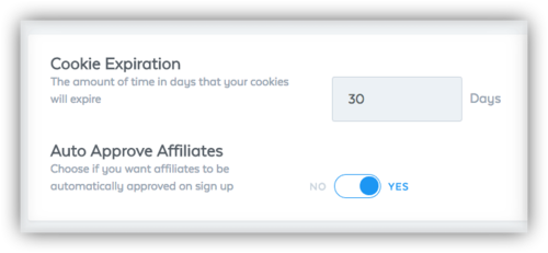 Samcart Affiliate Settings