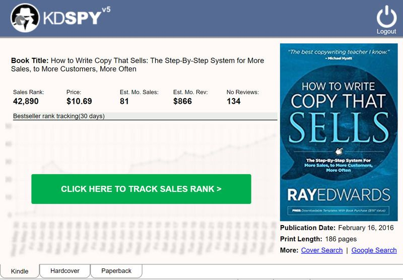 Track Sales Rank of Any Book