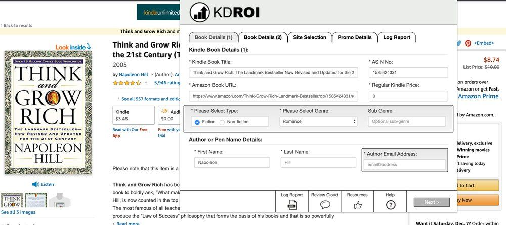 KDROI Extension Dashboard
