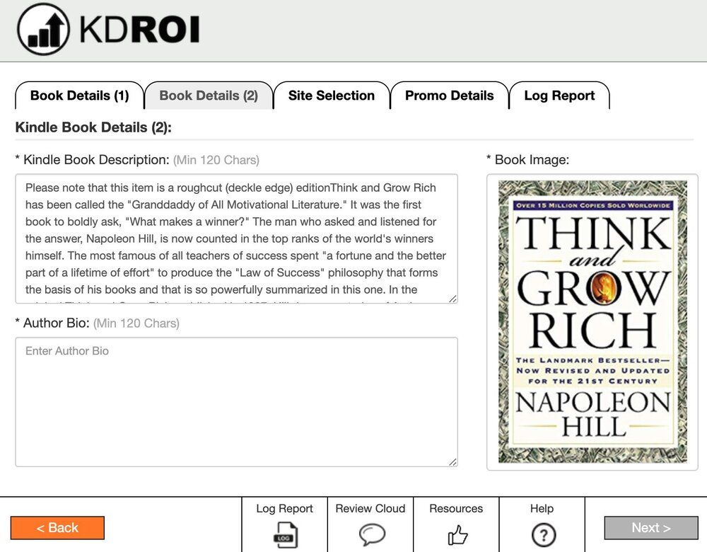 KDROI Fills In Meta Data from Amazon