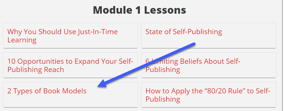 2 Types of Book Model Lesson