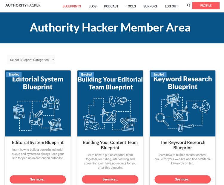 Authority Hacker Member Area