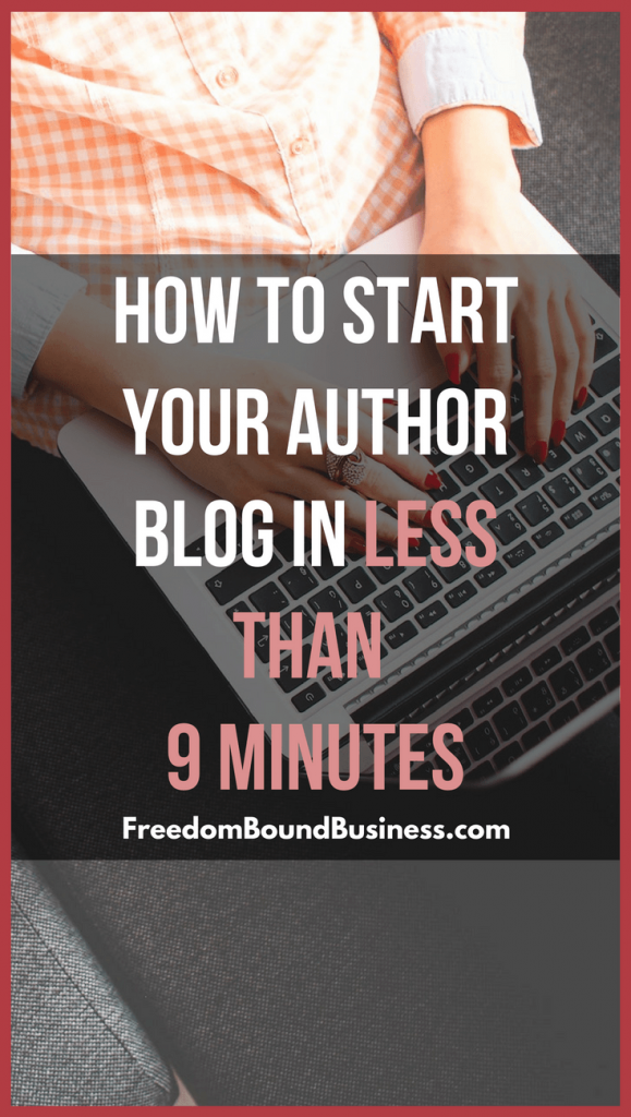 How to Start Your Author Blog - Pinterest Image