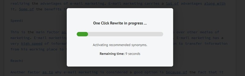 One Click Rewrite In Progress