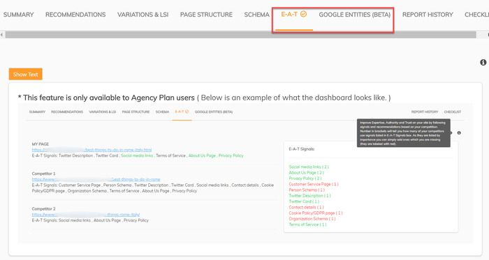 Page Optimizer Pro Project Agency User Features