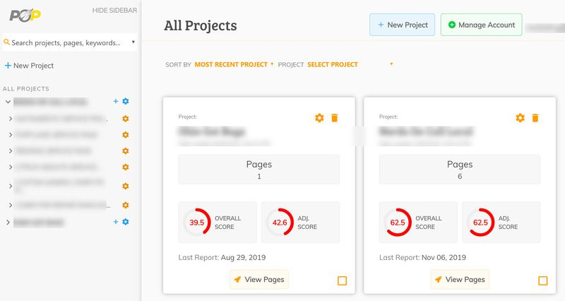 Page Optimizer Pro Project Dashboard