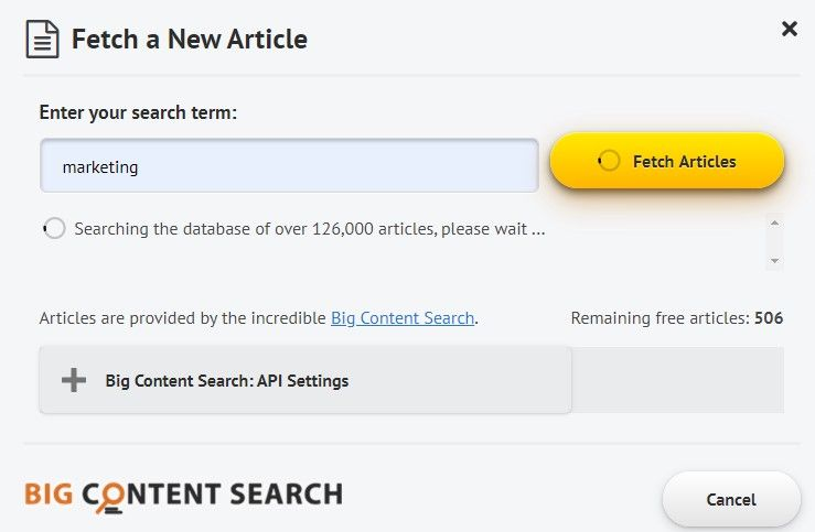 Spin Rewriter Big Content Fetch Article-New