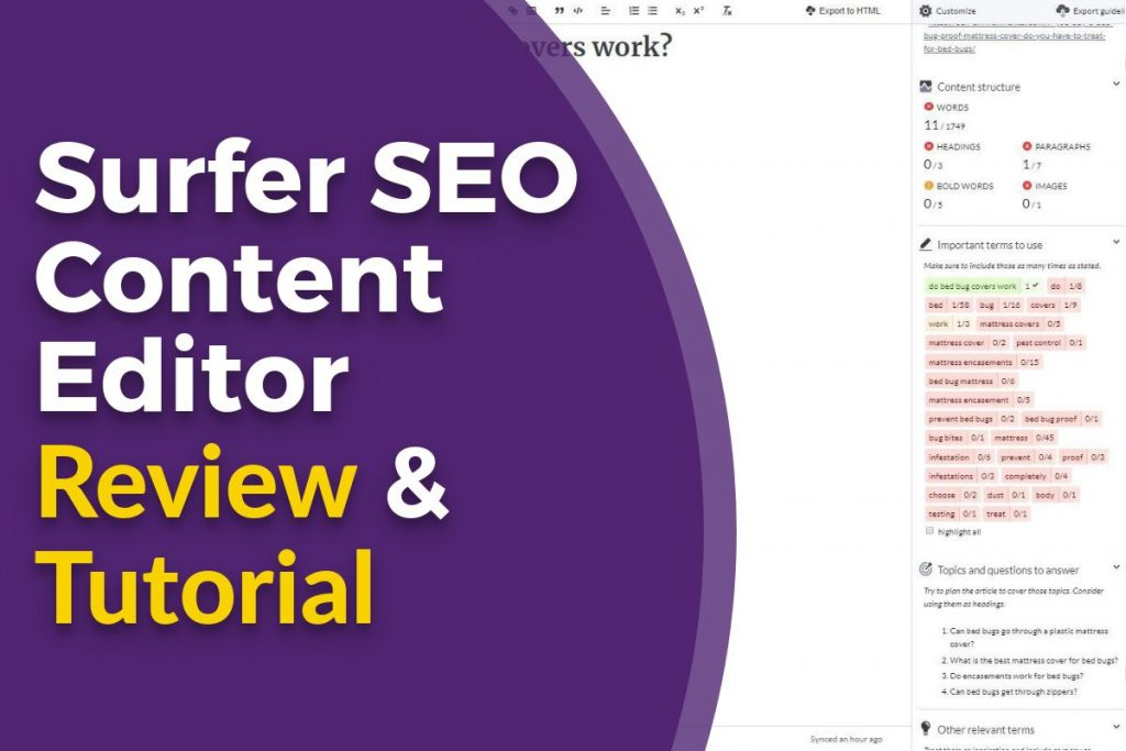 Surfer SEO Content Editor Review and Tutorial