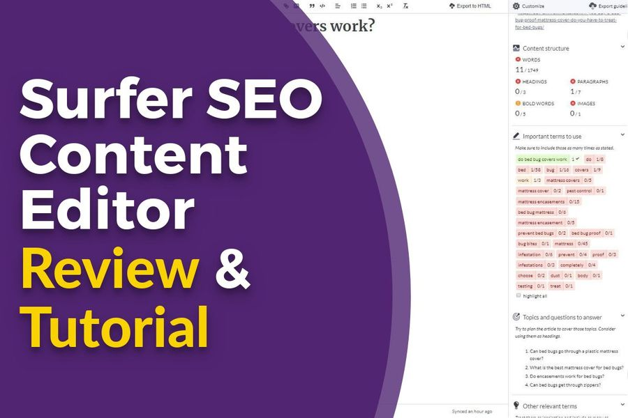 Surfer SEO Content Editor Review and Tutorial - Blog Featured Image