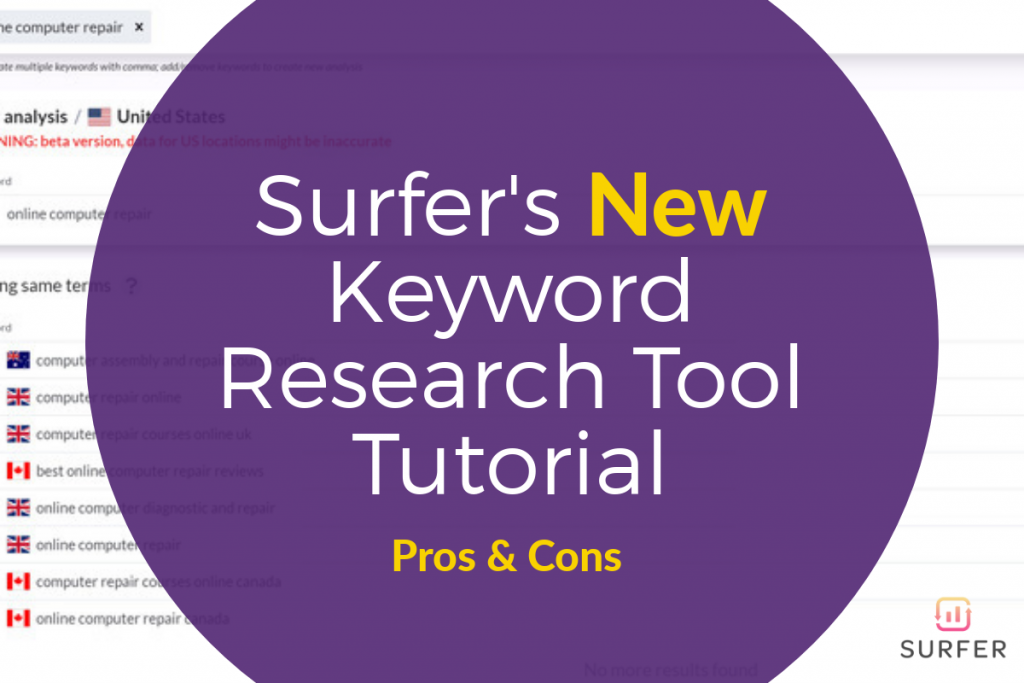 Surfer SEO Keyword Research Tool Feature Image