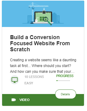 Thrive University - Build A Conversion Focused Website Course