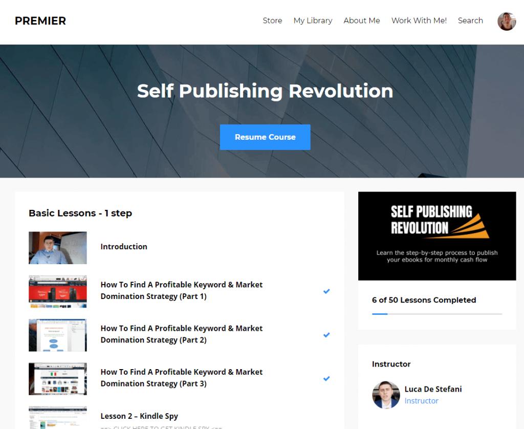 self publishing revolution Kajabi Login