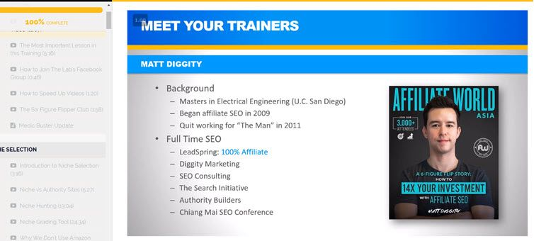 The Affiliate Lab by Matt Diggity Intro