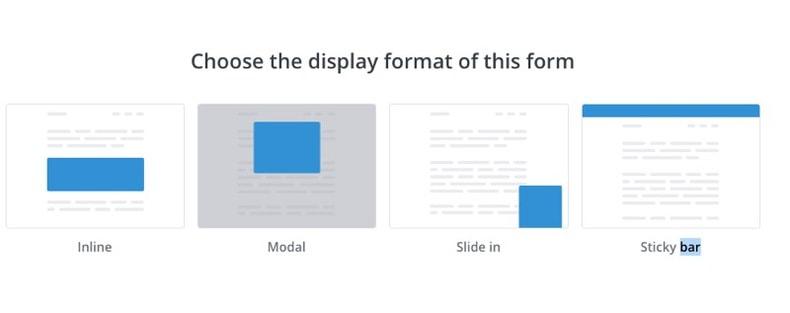 ConvertKit form types