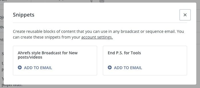email content feature set
