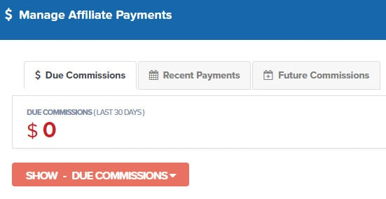 paying affiliates based on commission plan
