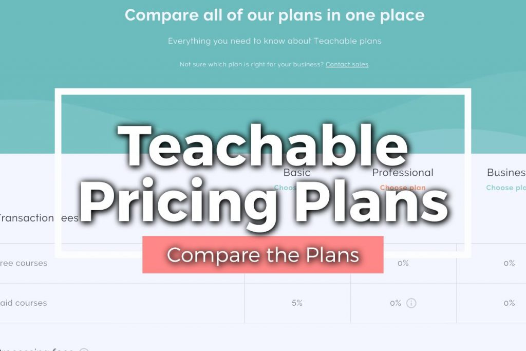Teachable Pricing Plans Featured Image