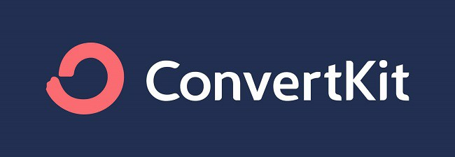 Convertkit Logo with Dark Background