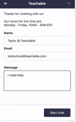teachable support