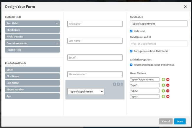 add forms