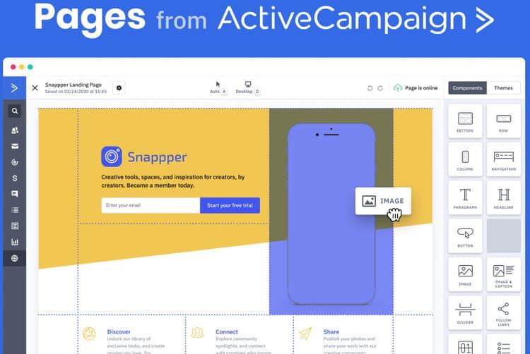 vs activecampaign pages