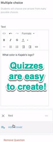 use kajabi for quizzes