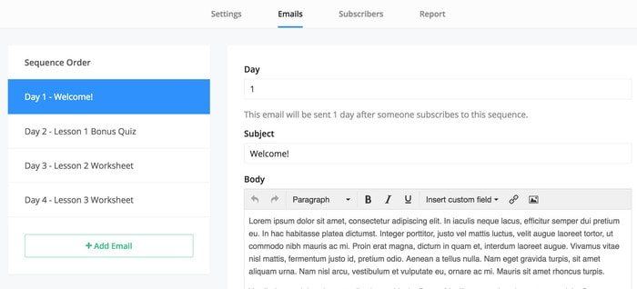 send emails to email list