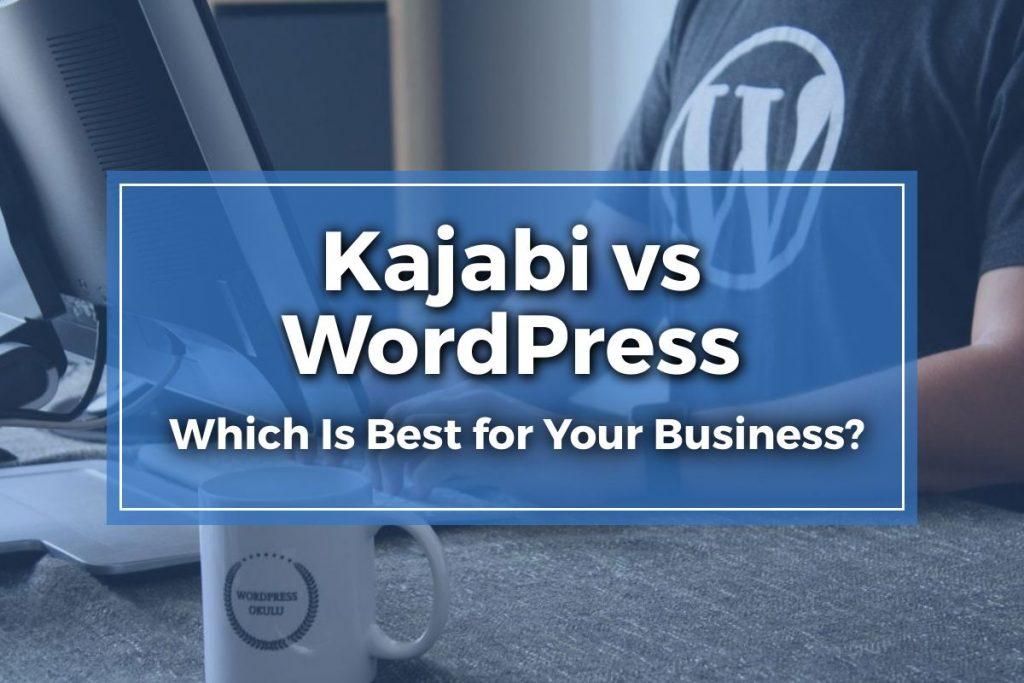 Kajabi vs WordPress Featured Image