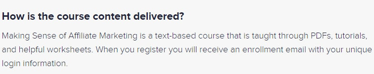took the course and mainly text